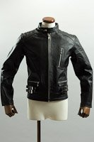 UKシングルライダースジャケット ブラック カウレザー