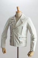 UKダブルライダースジャケット ホワイト