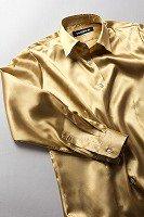 サテンシャツ レディースモデル ゴールド #02