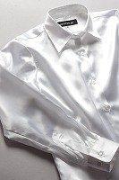 サテンシャツ レディースモデル パールホワイト #06
