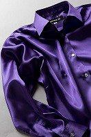 サテンシャツ レディースモデル ディープパープル #13