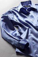 サテンシャツ レディースモデル すみれ色 #15
