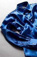 サテンシャツ レディースモデル ロイヤルブルー #18