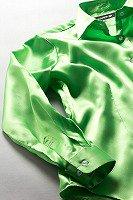 サテンシャツ レディースモデル アップルグリーン #23