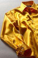 レディース サテンシャツ ゴールデンオレンジ #28