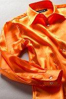 サテンシャツ レディースモデル オレンジ #29