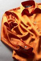 レディース サテンシャツ キャロットオレンジ #30