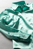 サテンシャツ レディースモデル ミントグリーン #31