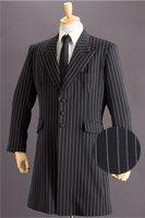 ロングジャケット・Zoot Jacket  ペンシルストライプ ブラック #0304の画像