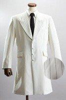 ロングジャケット・Zoot Jacket  ペンシルストライプ オフホワイトの画像