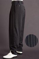ズートパンツ ・zoot pants ペンシルストライプ ブラック #0306