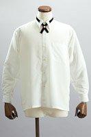 クロスタイ付 レギュラーカラーシャツ
