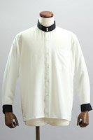 クレリック スタンドカラーシャツ #10021 ホワイト