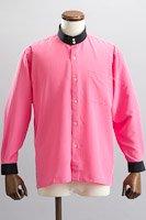 クレリック スタンドカラーシャツ #10021 ピンク