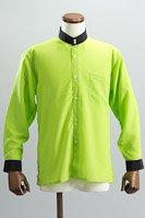 クレリック スタンドカラーシャツ #10021 ライトグリーン