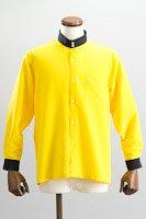 クレリック スタンドカラーシャツ #10021 イエロー
