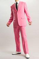 ショッキングピンクスーツ シングル2つボタン