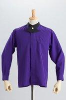 クロスカラーシャツ #a031 パープル