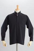 デザインカラー3つボタンシャツ #a061 ブラック