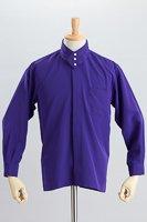 デザインカラー3つボタンシャツ #a261 パープル