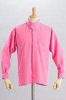 デザインカラー3つボタンシャツ #a261 ピンク