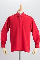 デザインカラー3つボタンシャツ #a061 レッド
