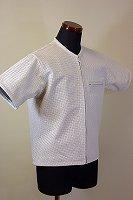 ジップアップ パンチングレザーTシャツ ホワイト