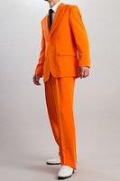 カラースーツ シングル 2つボタン オレンジ