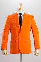 シングル 2つボタンジャケット サイドベンツ オレンジ