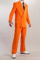 カラースーツ ダブル オレンジ ノータックパンツモデル
