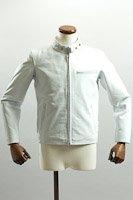 シングルライダースジャケット ホワイト カウレザー