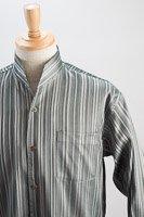 オープンスタンドカラーシャツジャガード シルバー #n4533