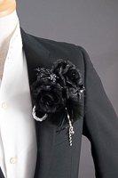 ローズコサージュ #5704 ブラック