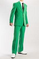 カラースーツ シングル 2つボタンサイドベンツ グリーン ノータックパンツモデル