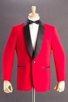 赤いタキシードジャケット