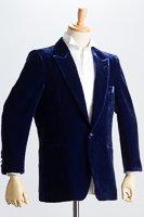 ラメベルベットジャケット ブルー