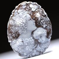 【コレクションピース】「子の成長を願う母」作家チーロ・ヴィティエッロ