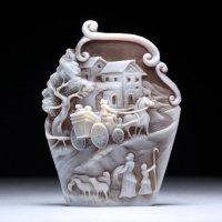 【初登場3Dシェルカメオ】前世紀イタリアの一風景〜作家フランチェスコ・モナステーロ