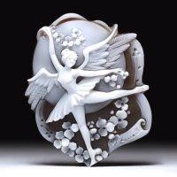 【ユニークな傑作】シェルカメオルース「白鳥の湖」   作家ピエトロ・シモネッリ
