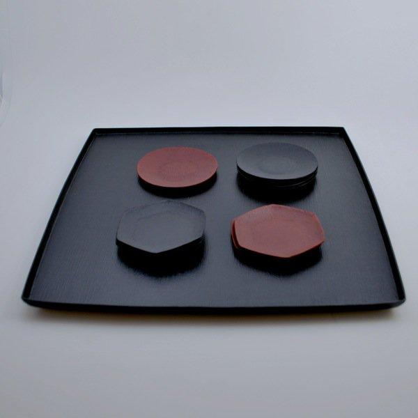 布目胴張盆(1029) 尺1 黒