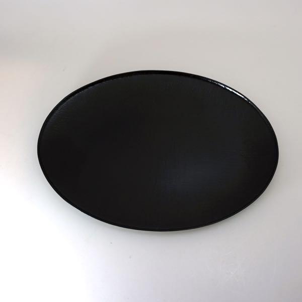 布目オーバル皿 黒 68