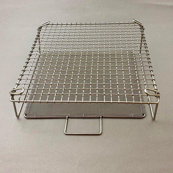 脚付焼網セット 正方形
