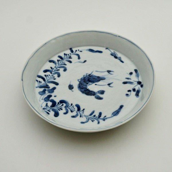 海老図5寸皿
