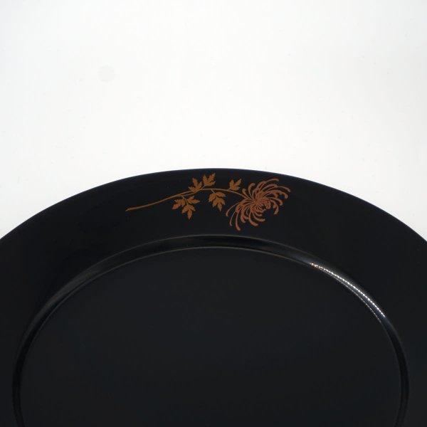 蒔絵リム皿7寸 菊