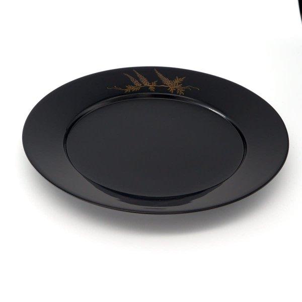 蒔絵リム皿7寸 藤