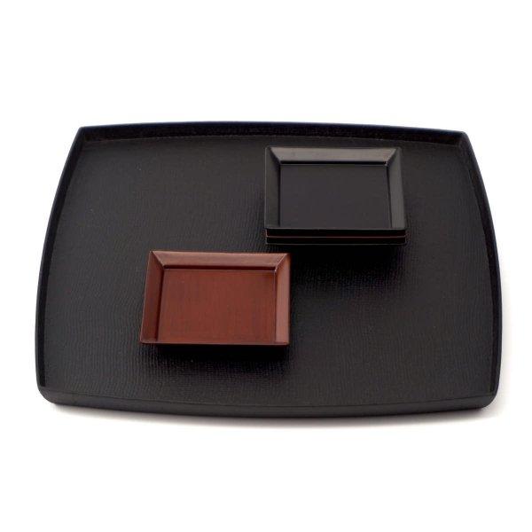 角皿 2.5寸 黒