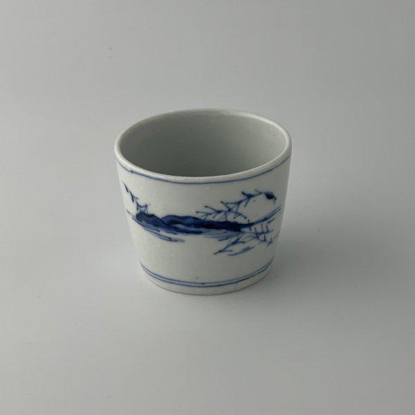 河舟図猪口(中)