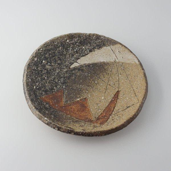 風器/灰釉丸皿