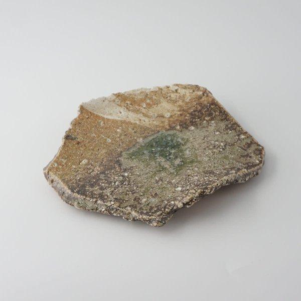 風器/灰釉丸皿(中)