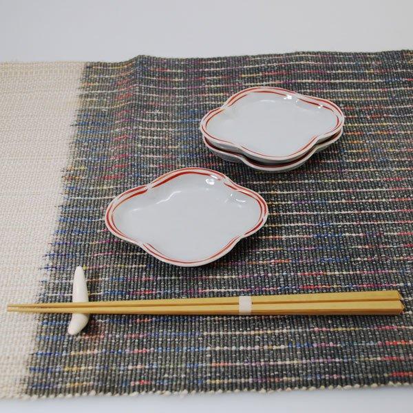 渕朱モッコ形皿